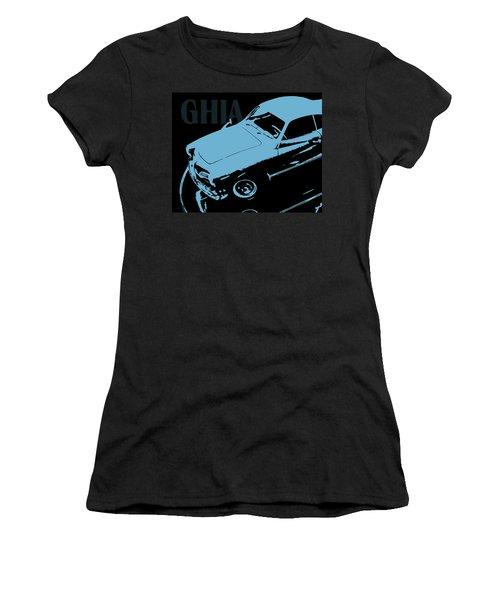 1962 Karmann Ghia Pop Art Blue Women's T-Shirt