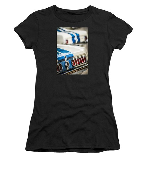 Women's T-Shirt featuring the photograph 1965 Ford Shelby Mustang Gt 350 Taillight -1037c by Jill Reger