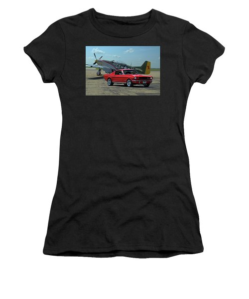 1965 Mustang Fastback And P51 Mustang Women's T-Shirt