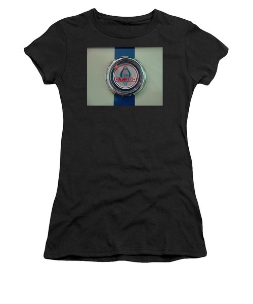 Women's T-Shirt (Athletic Fit) featuring the photograph 1965 Shelby Gt 350 Filler Cap by Chris Flees