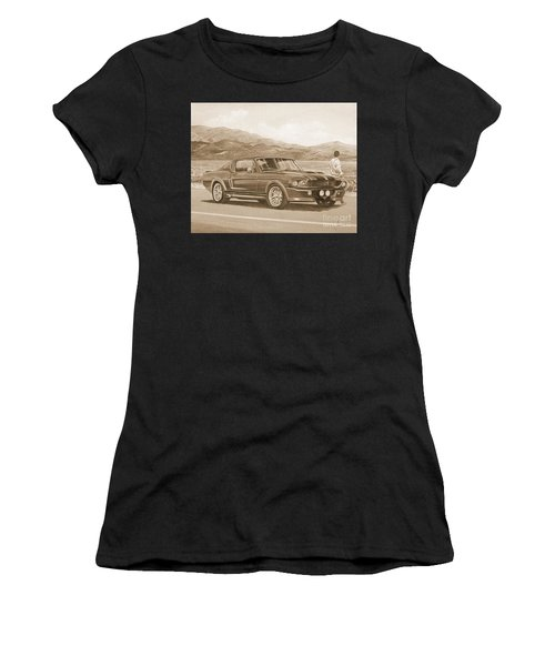 1967 Ford Mustang Fastback In Sepia Women's T-Shirt