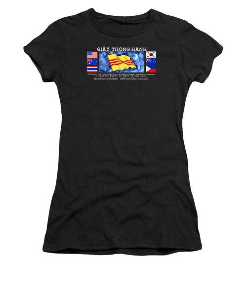 1968 Vietnam War Safe Conduct Pass Women's T-Shirt (Athletic Fit)