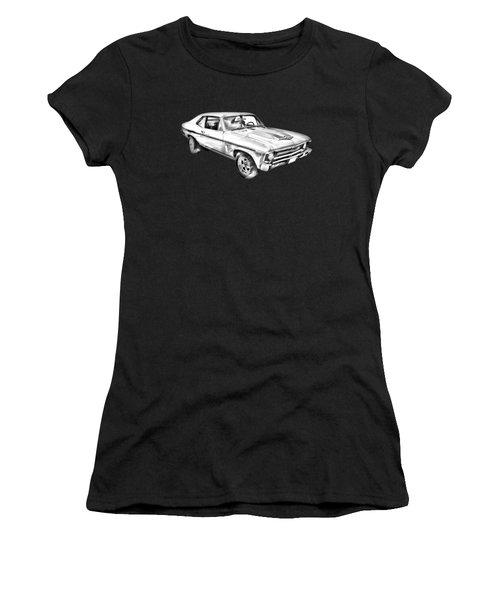 1969 Chevrolet Nova Yenko 427 Muscle Car Illustration Women's T-Shirt