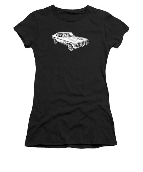 1969 Chevrolet Nova Yenko 427 Muscle Car Illustration Women's T-Shirt (Athletic Fit)