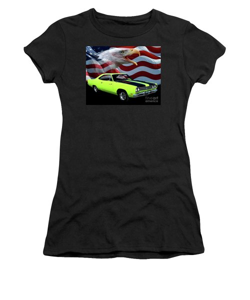 1969 Plymouth Road Runner Tribute Women's T-Shirt (Athletic Fit)