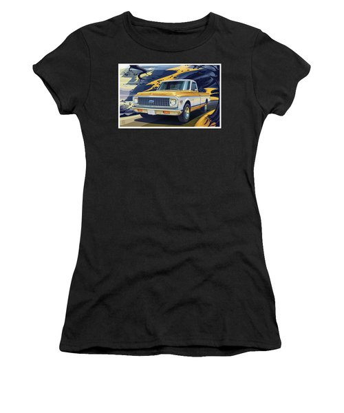 1971 Chevrolet C10 Cheyenne Fleetside 2wd Pickup Women's T-Shirt