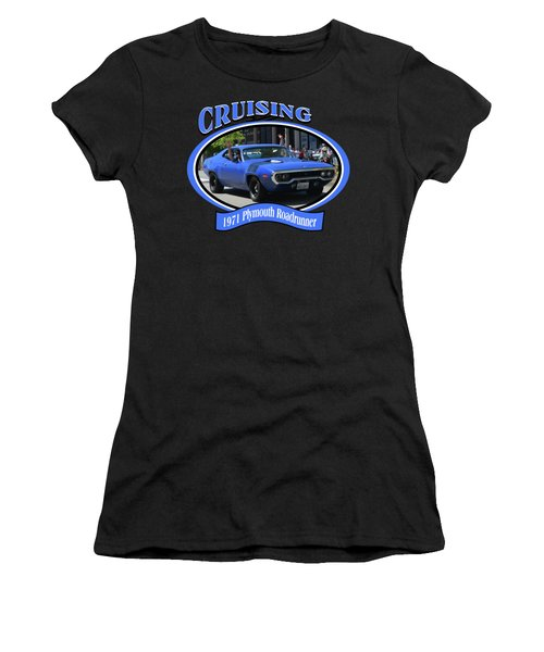 1971 Plymouth Roadrunner Hedman Women's T-Shirt (Junior Cut) by Mobile Event Photo Car Show Photography