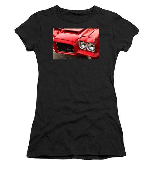 Women's T-Shirt (Junior Cut) featuring the photograph 1972 Pontiac Gto by Gordon Dean II