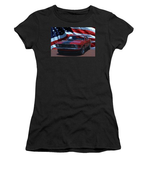 1970 Mustang Mach I Women's T-Shirt (Athletic Fit)