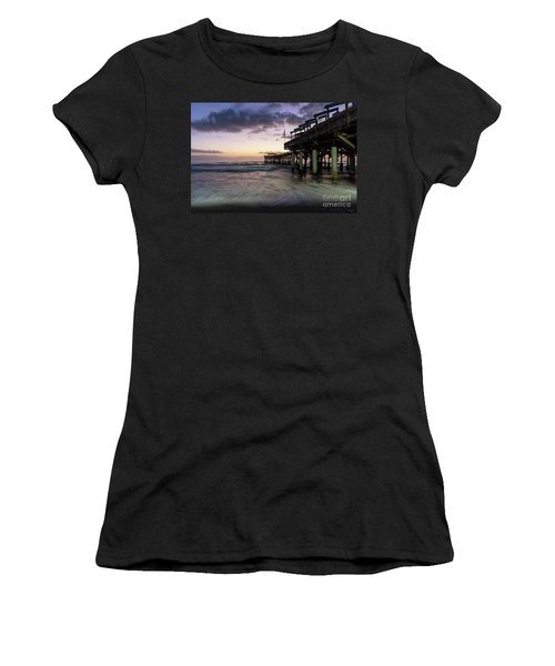 1st Dawn Cocoa Pier Women's T-Shirt (Athletic Fit)