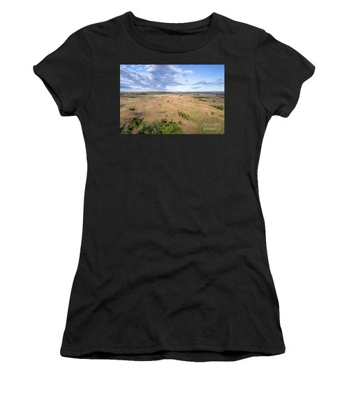 aerial view of Nebraska Sandhills  Women's T-Shirt