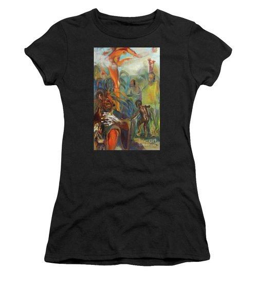Ancestor Dance Women's T-Shirt (Athletic Fit)