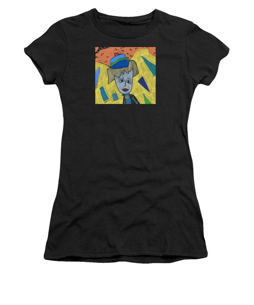Women's T-Shirt (Athletic Fit) featuring the painting Archangel Haniel by Clarity Artists