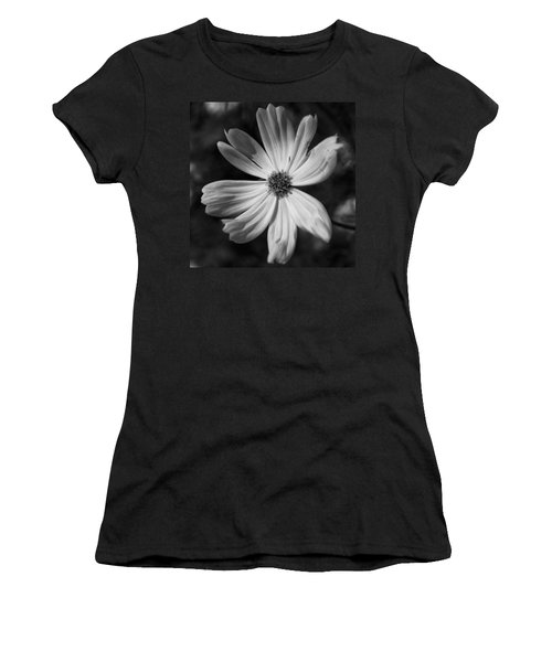 Black And White Flower  Women's T-Shirt (Junior Cut) by Kevin Blackburn
