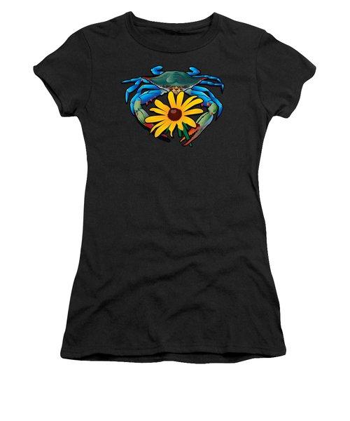 Blue Crab Maryland Black-eyed Susan Women's T-Shirt (Athletic Fit)