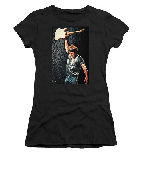 Bruce Springsteen Women's T-Shirt (Athletic Fit)