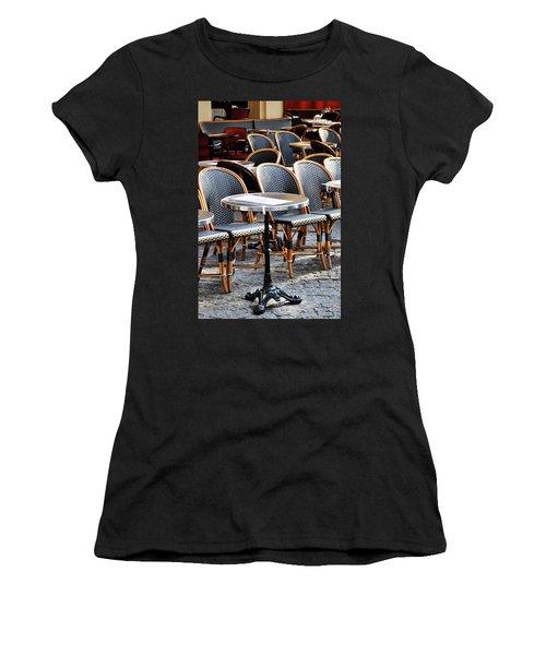 Cafe Terrace In Paris Women's T-Shirt (Athletic Fit)