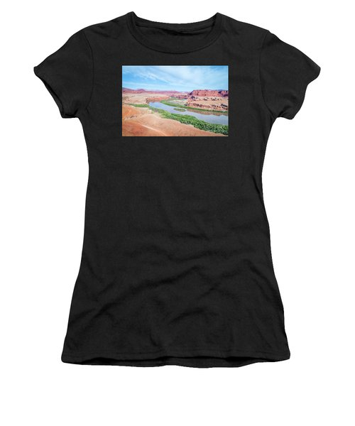 Canyon Of Colorado River In Utah Aerial View Women's T-Shirt