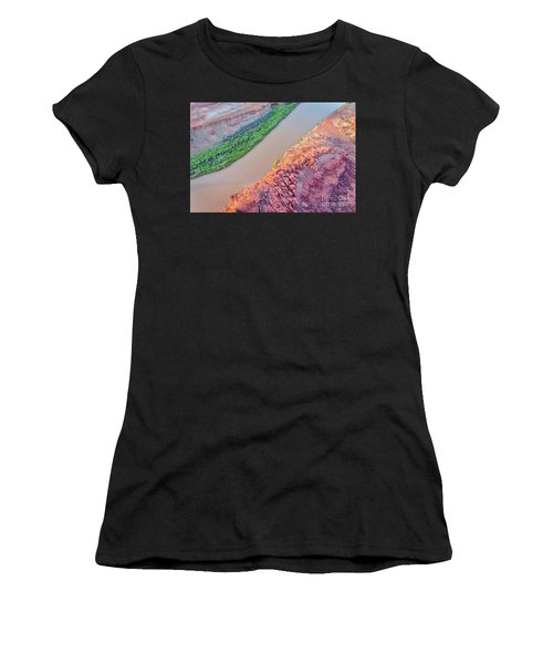 Canyon Of Colorado River - Sunrise Aerial View Women's T-Shirt
