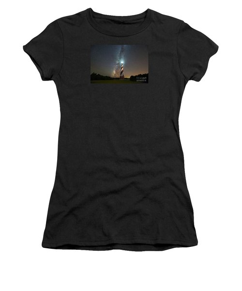 Cape Hatteras Lighthouse Milky Way Women's T-Shirt (Athletic Fit)