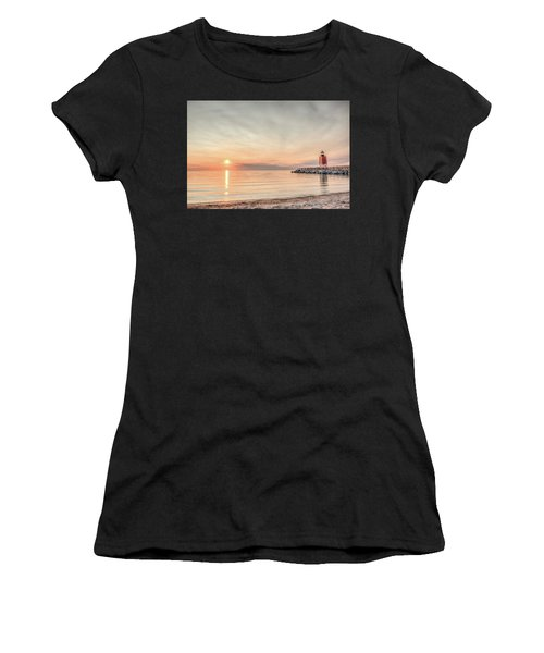 Charelvoix Lighthouse In Charlevoix, Michigan Women's T-Shirt