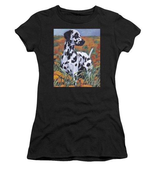 Women's T-Shirt (Junior Cut) featuring the painting Dalmatian by Lee Ann Shepard