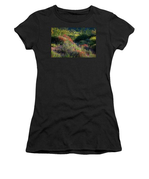 Women's T-Shirt (Junior Cut) featuring the photograph Desert Wildflowers  by Saija Lehtonen