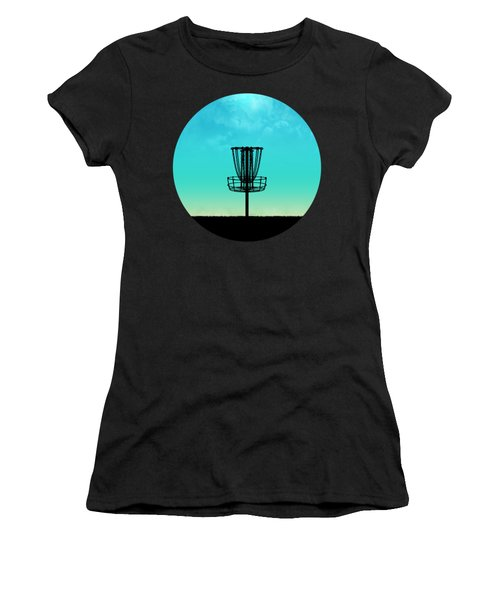 Disc Golf Basket Silhouette Women's T-Shirt