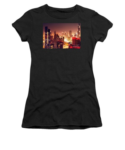 Dubai City At Night Women's T-Shirt (Athletic Fit)