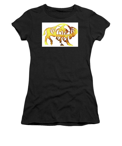 Women's T-Shirt (Junior Cut) featuring the photograph End Of The Trail by Larry Campbell