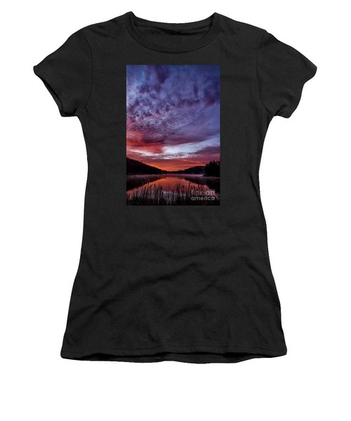 First Light On The Lake Women's T-Shirt (Junior Cut) by Thomas R Fletcher