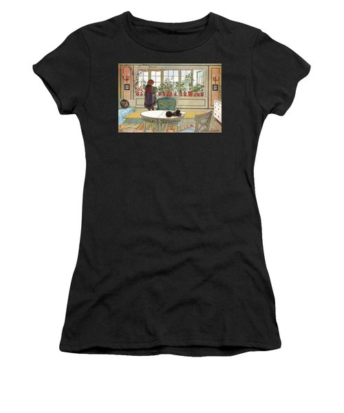Flowers On The Windowsill Women's T-Shirt