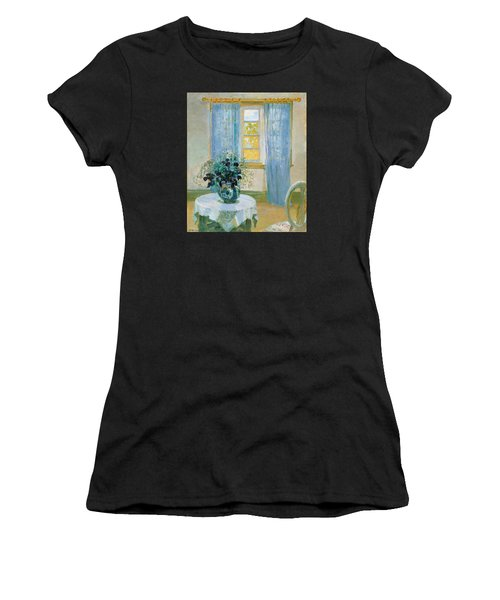 Interior With Clematis Women's T-Shirt (Athletic Fit)