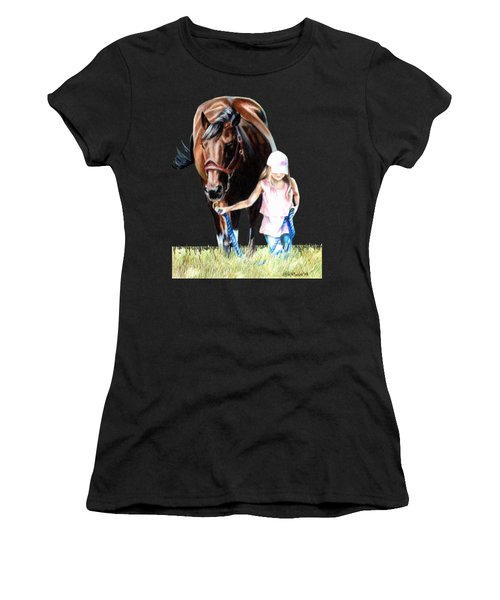 Just A Girl And Her Horse  Women's T-Shirt