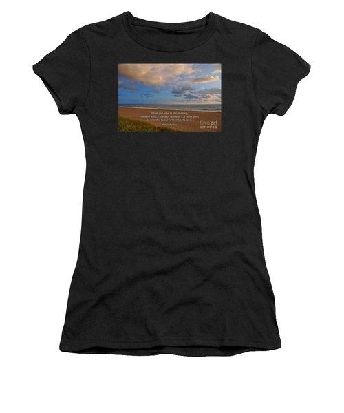 2- Marcus Aurelius Women's T-Shirt (Athletic Fit)