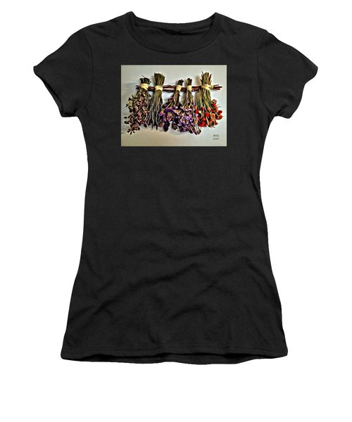 Women's T-Shirt featuring the painting Memories by Marian Palucci-Lonzetta