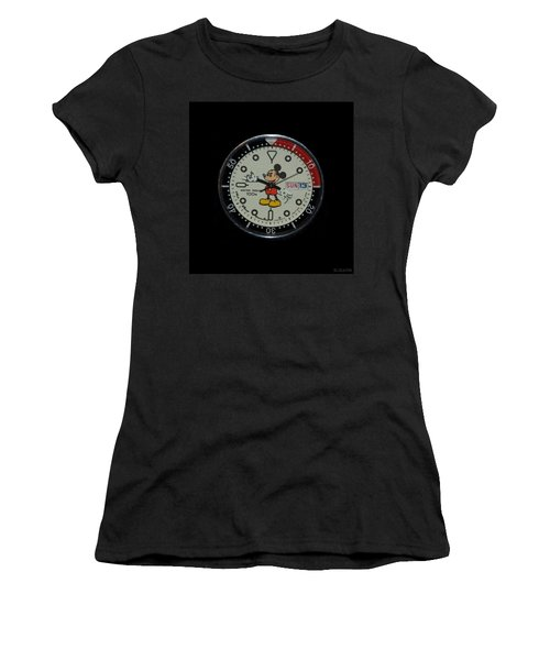 Mickey Mouse Watch Face Women's T-Shirt (Athletic Fit)