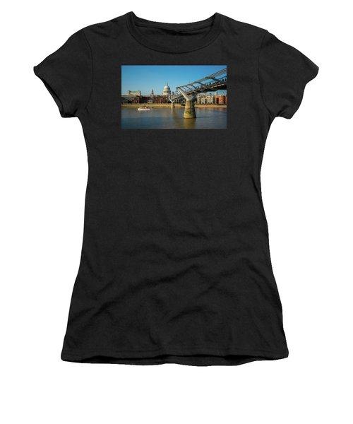 Women's T-Shirt featuring the photograph Millennium Bridge by Stewart Marsden