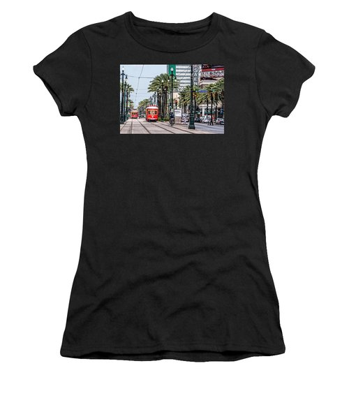 New Orleans Canal Street Streetcars Women's T-Shirt (Athletic Fit)