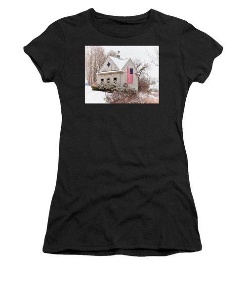 Patriotic Barn Women's T-Shirt (Athletic Fit)
