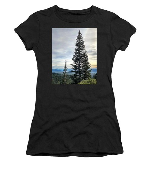 2 Pine Trees Women's T-Shirt (Athletic Fit)