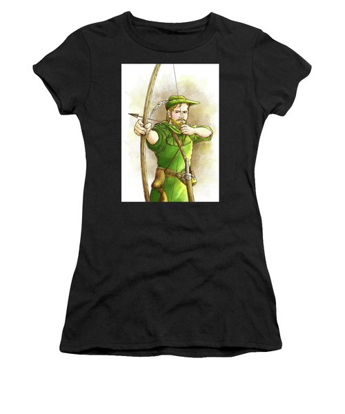 Robin Hood The Legend Women's T-Shirt (Athletic Fit)