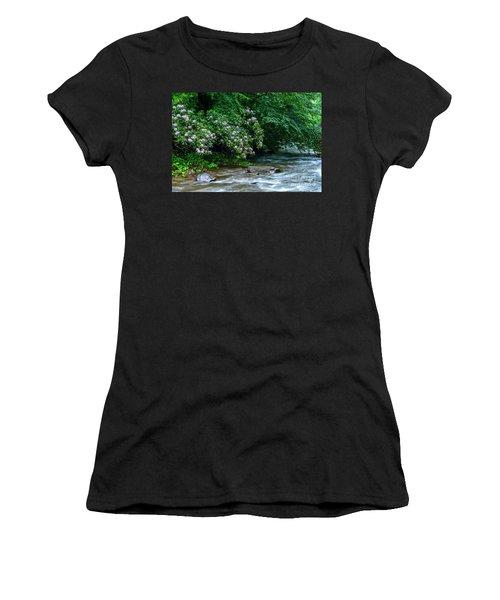 Summer Along Birch River Women's T-Shirt