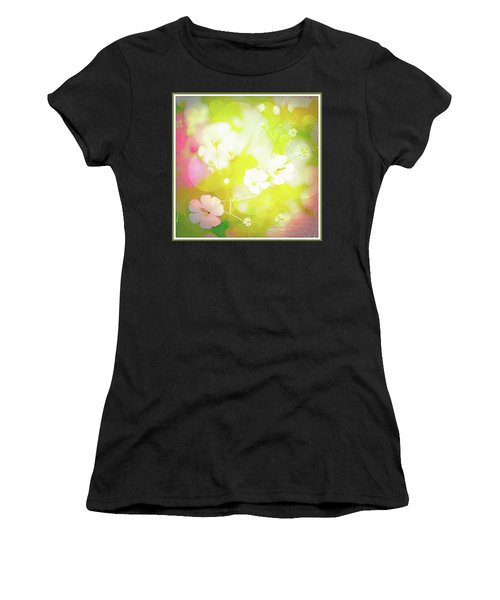 Summer Flowers, Baby's Breath, Digital Art Women's T-Shirt