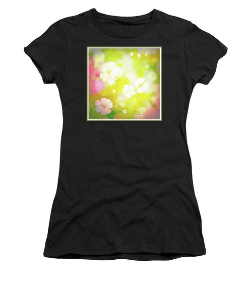 Summer Flowers, Baby's Breath, Digital Art Women's T-Shirt