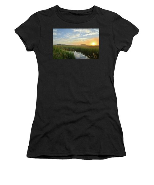 Sunrise At Glacial Park Women's T-Shirt (Athletic Fit)