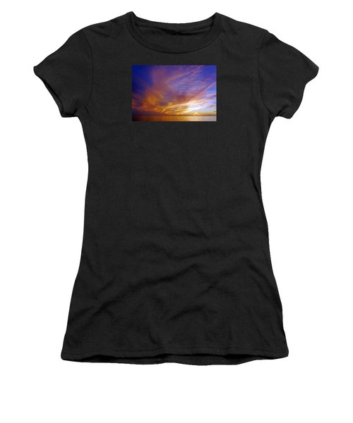 Sunset At Delnor Wiggins Pass State Park In Naples, Fl Women's T-Shirt