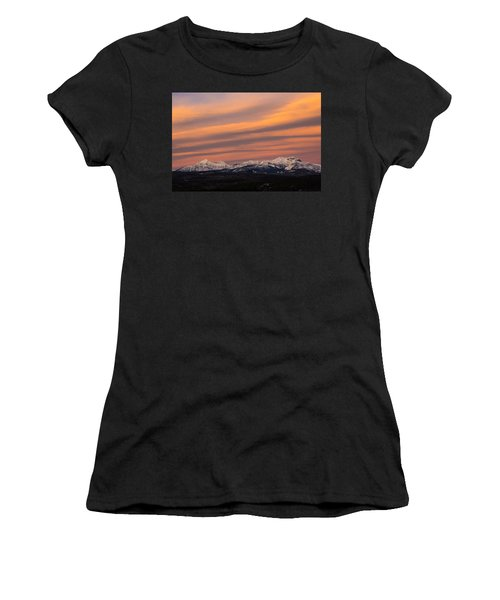 Sunset In Glacier National Park Women's T-Shirt (Athletic Fit)