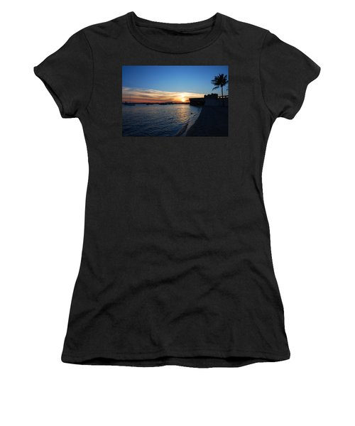 Women's T-Shirt (Junior Cut) featuring the photograph 2- Sunset In Paradise by Joseph Keane