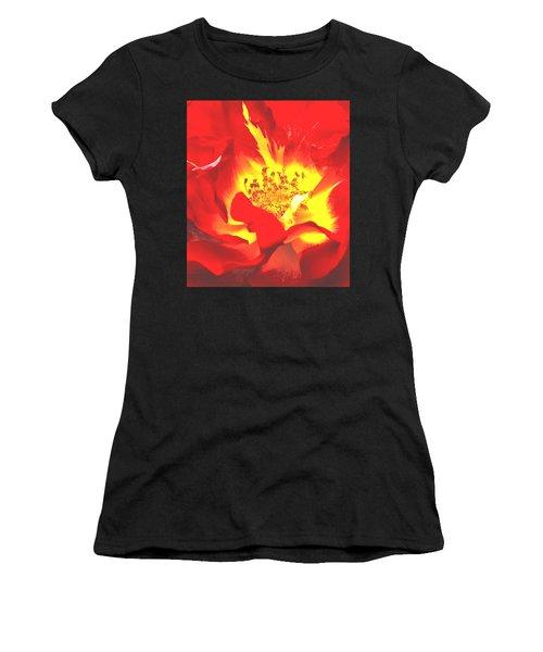 The Heart Of A Rose Women's T-Shirt